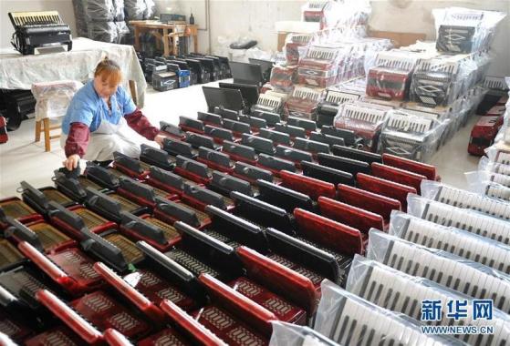 河北滄縣:巧手農民製作西洋樂器暢銷海外