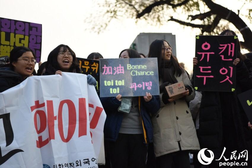 韩国高考场面壮观