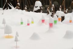 在漫天大雪裏發出的藝術訊息