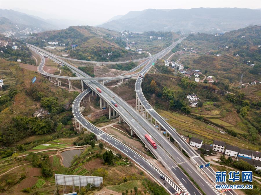 万利高速公路重庆段建设进入尾声