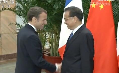 李克强会见法国总统