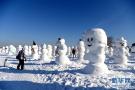 2018座雪人雕塑展出