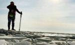 辽河口50公里冰凌奇观 冰层比去年厚10厘米