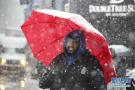 纽约遭遇暴风雪天气