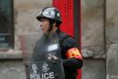 新疆维稳一线的警察