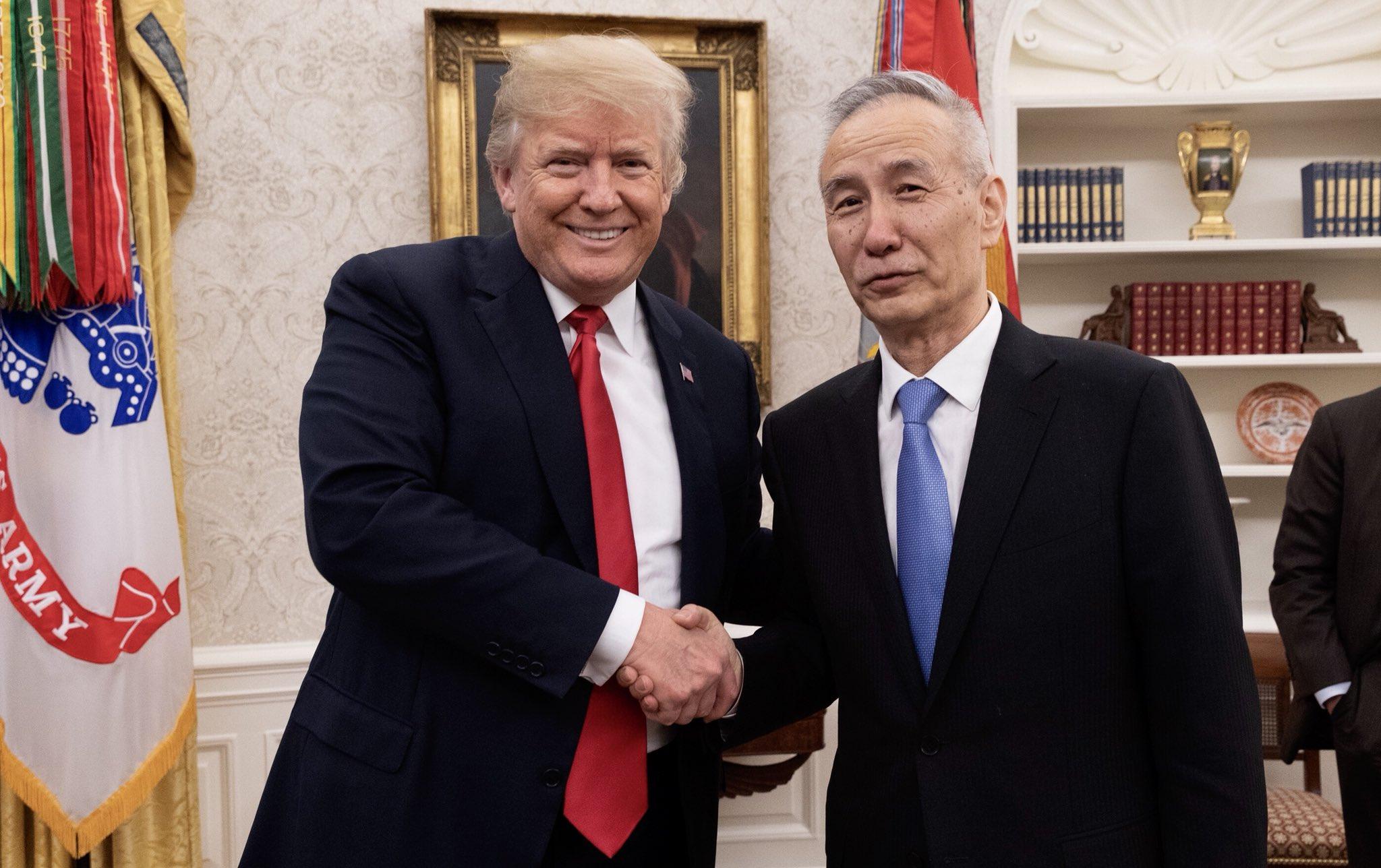 网上澳门赌博:刘鹤接受媒体采访表示中美达成共识:不打贸易战