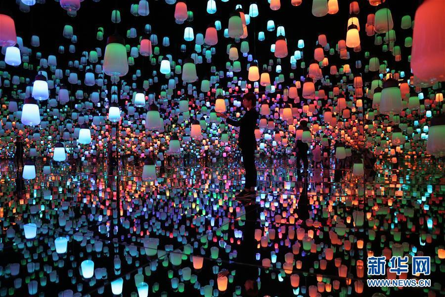 """(国际)(2)走进日本""""无边界""""数字艺术博物馆"""