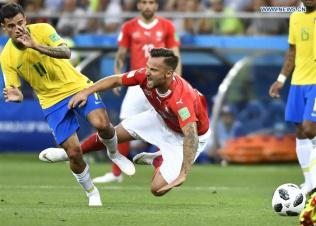 Brazil and Switzerland draw 1-1