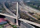 万吨大桥转体成功