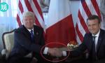 """特朗普""""握手神功""""被这位法国小哥儿破了"""