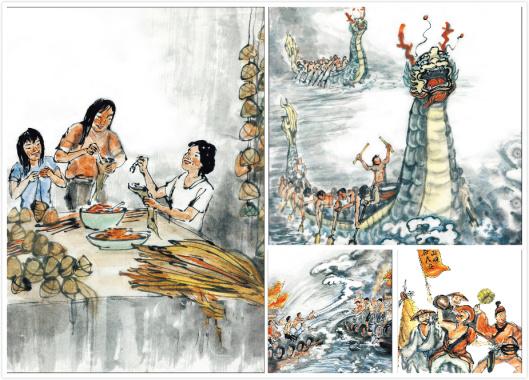 包粽子、海上泼水!漫画看泉州端午特色民俗