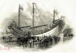 英国人竞相买票参观:第一艘驶向欧美的中国木帆船