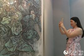 慶祝建軍九十週年中國畫作品展在鄭州開展