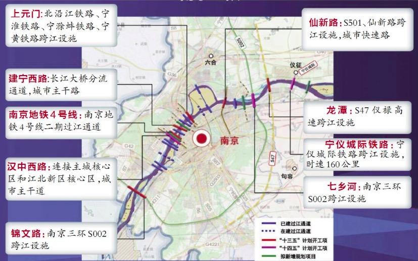 未来,南京将拥有24座过江通道,占全省半数以上