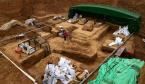 洛阳发现西汉中晚期大墓 出土大雁铜灯