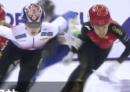 韩国短道速滑再下黑手 中国选手被推摔出赛道