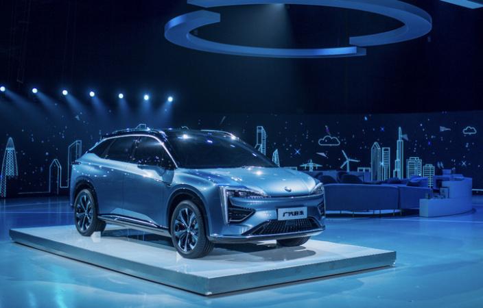 """""""HYCAN合创""""品牌发布会,广汽蔚来展示了首款概念车。"""